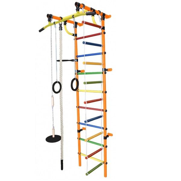 Детский спортивный комплекс Формула здоровья Гамма-1К Плюс оранжевый/радуга