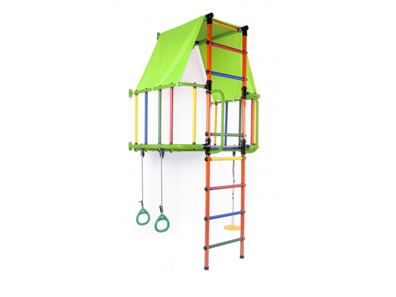 Детский спортивный комплекс Формула здоровья Индиго L Плюс салатовый/оранжевый/радуга