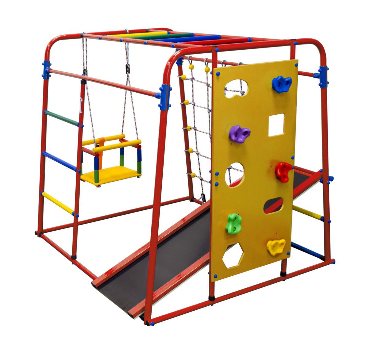 Детский спортивный комплекс Формула здоровья Start baby 2 плюс красный/радуга