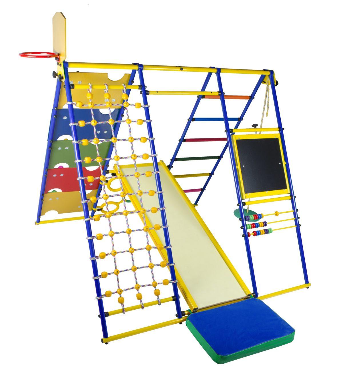 Детский спортивный комплекс Формула здоровья Вершинка W Плюс синий/радуга