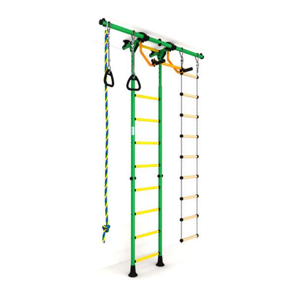 Детский спортивный комплекс Карусель R55 (ДСКМ-2-8.06.Г5.410.01-12) зелёно-жёлтый