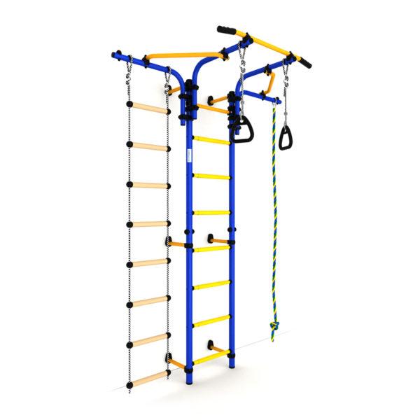 Детский спортивный комплекс Карусель S5 (ДСКМ-2С-8.06.Т1.410.01-14) сине-жёлтый