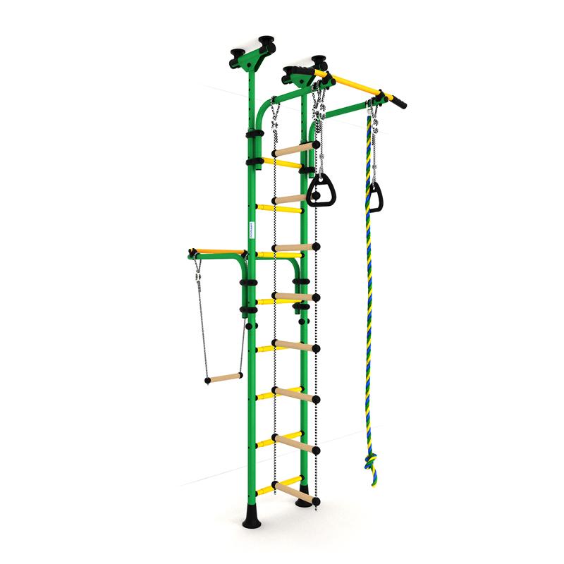 Детский спортивный комплекс Олимпиец-1 (ДСКМ-2-8.06.Т1.410.01-22) обливные зелёно-жёлтый