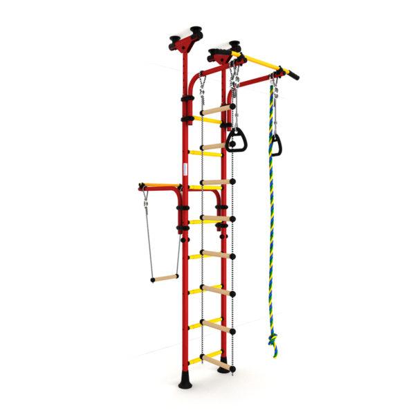 Детский спортивный комплекс Романа Олимпиец-1 (ДСКМ-2-8.06.Т1.410.01-22) обливные красно-жёлтый