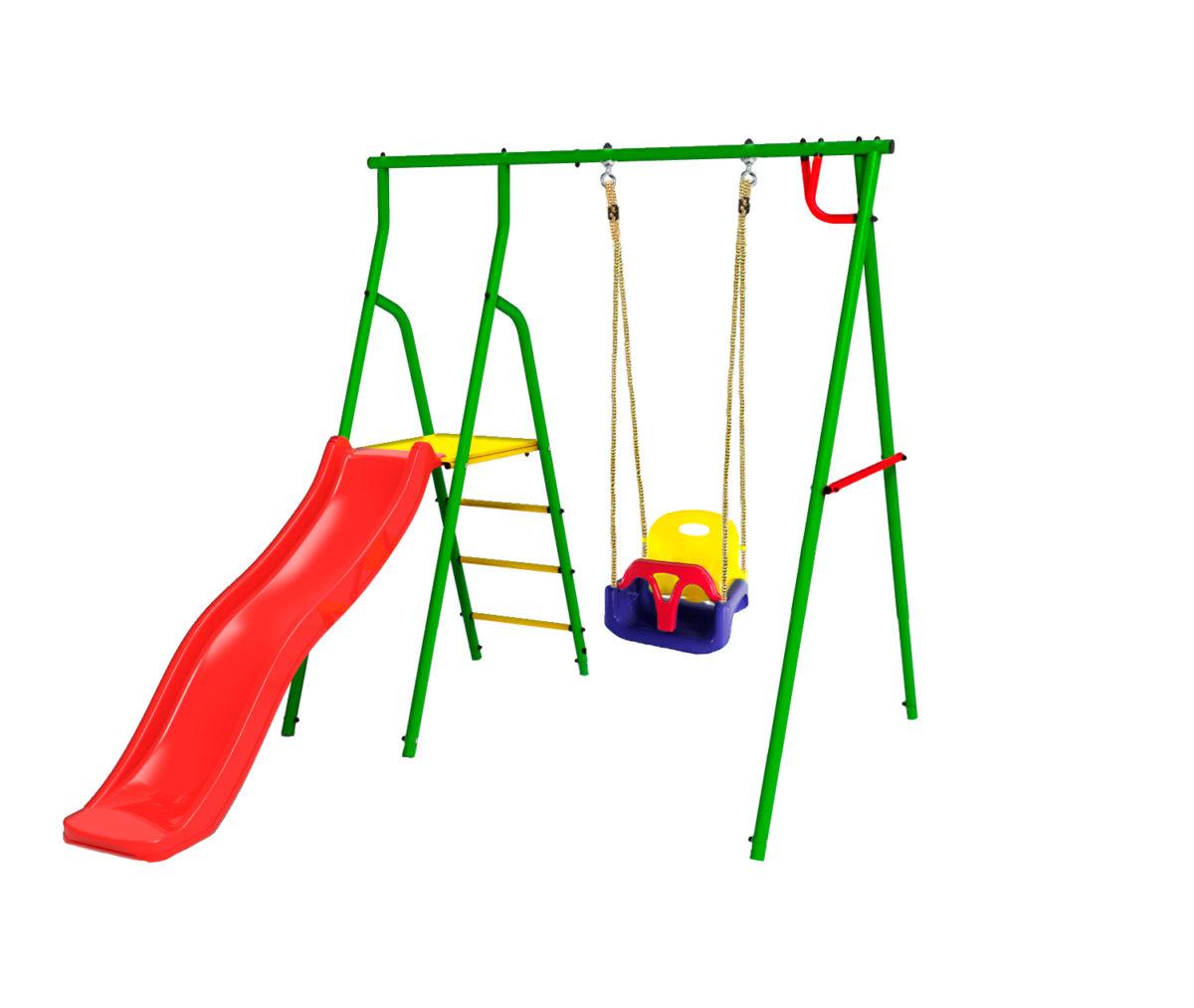 Спортивно-игровой комплекс Kampfer Alpen Baby (Детские пластиковые качели 3в1)