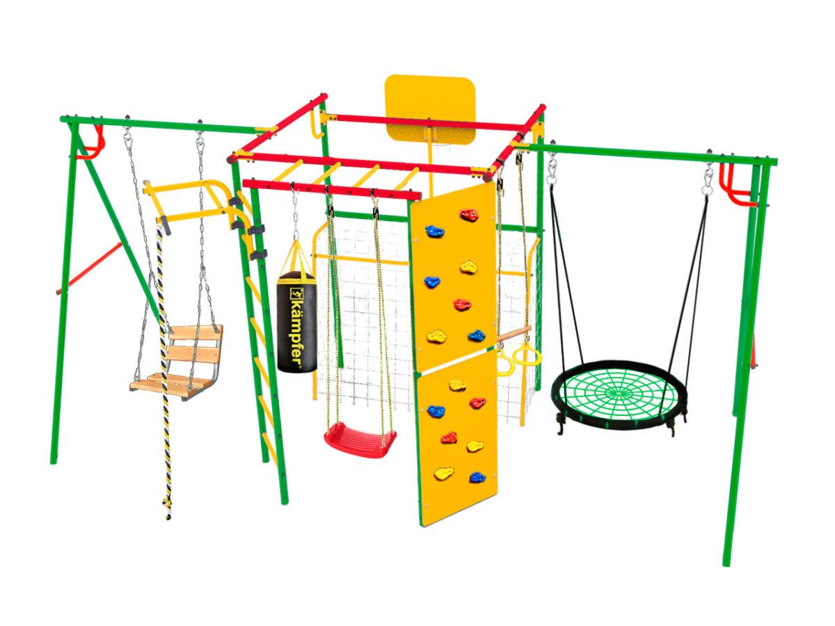 Спортивно-игровой комплекс Kampfer Monkey Young 80 (Гнездо среднее зеленое)