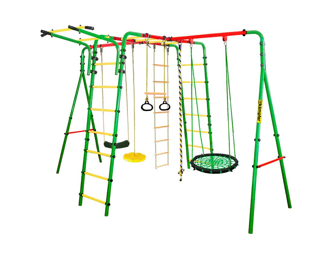 Спортивно-игровой комплекс Kampfer Wunder (Гнездо малое зеленое (желтая лиана))