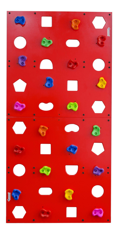 Скалодром пристенный Формула здоровья 1000*2000 стандарт Эльбрус с отверстиями красный