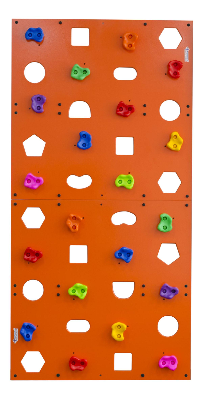 Скалодром пристенный Формула здоровья 1000*2000 стандарт Эльбрус с отверстиями оранжевый