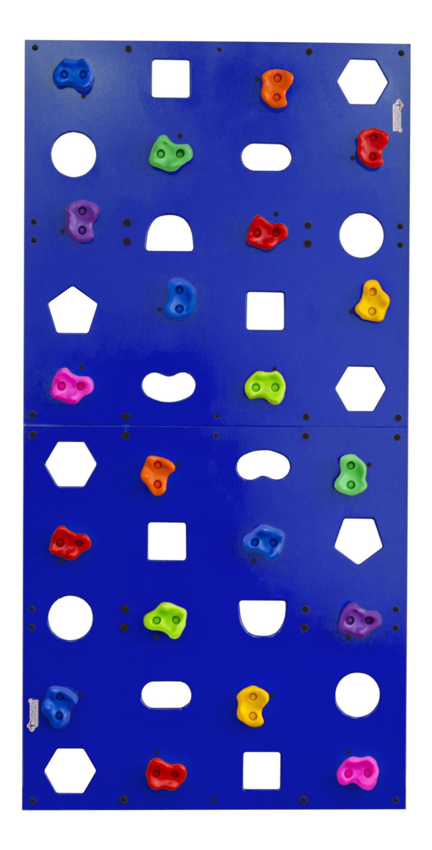 Скалодром пристенный Формула здоровья 1000*2000 стандарт Эльбрус с отверстиями синий