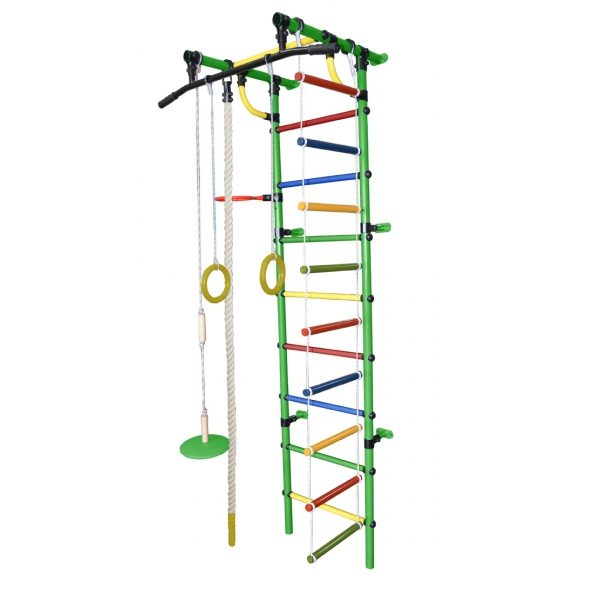 Спортивный комплекс Формула здоровья Гамма-1К Плюс зелёный/радуга