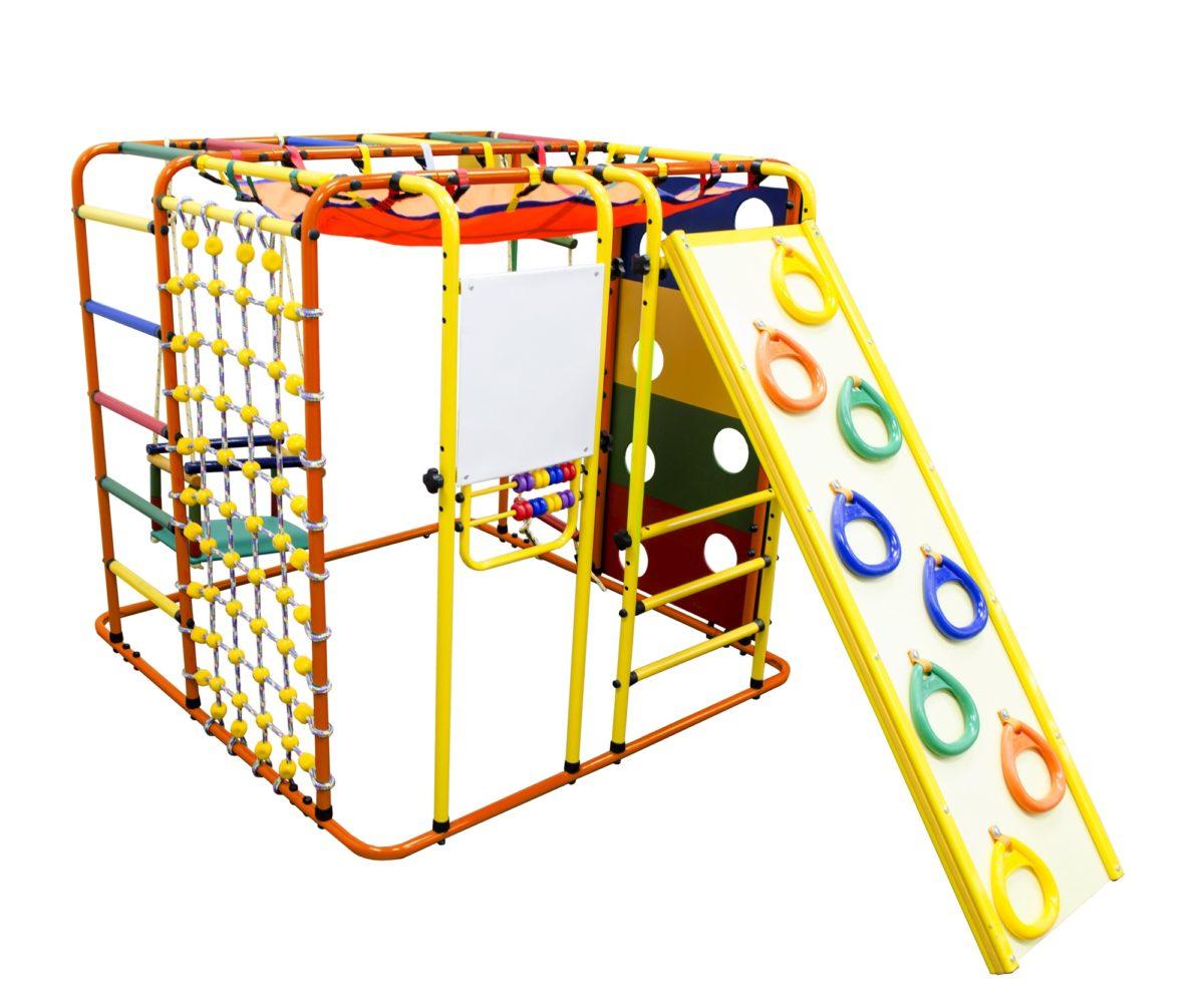 Спортивный комплекс Формула здоровья Кубик У Плюс оранжевый/радуга