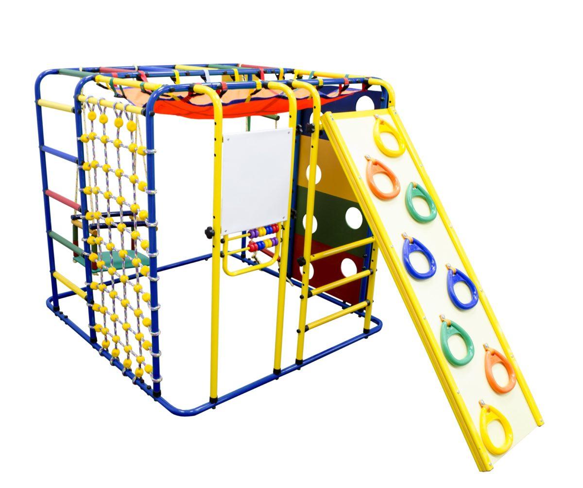 Спортивный комплекс Формула здоровья Кубик У Плюс синий/радуга