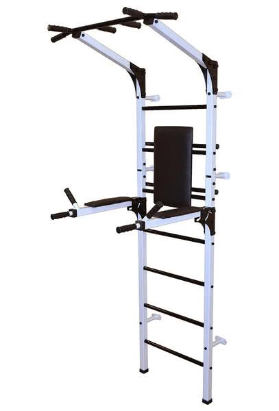Спортивный комплекс Формула здоровья Олимп со складными брусьями бело/чёрный