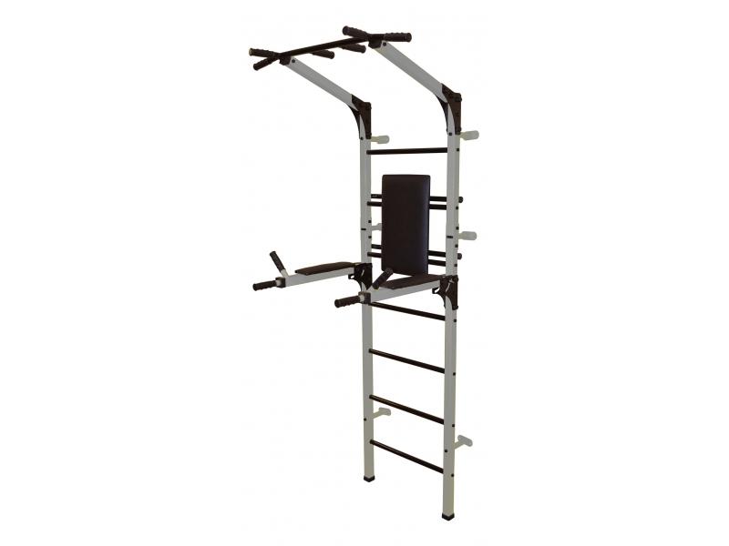 Спортивный комплекс Формула здоровья Олимп со складными брусьями серебристо/чёрный