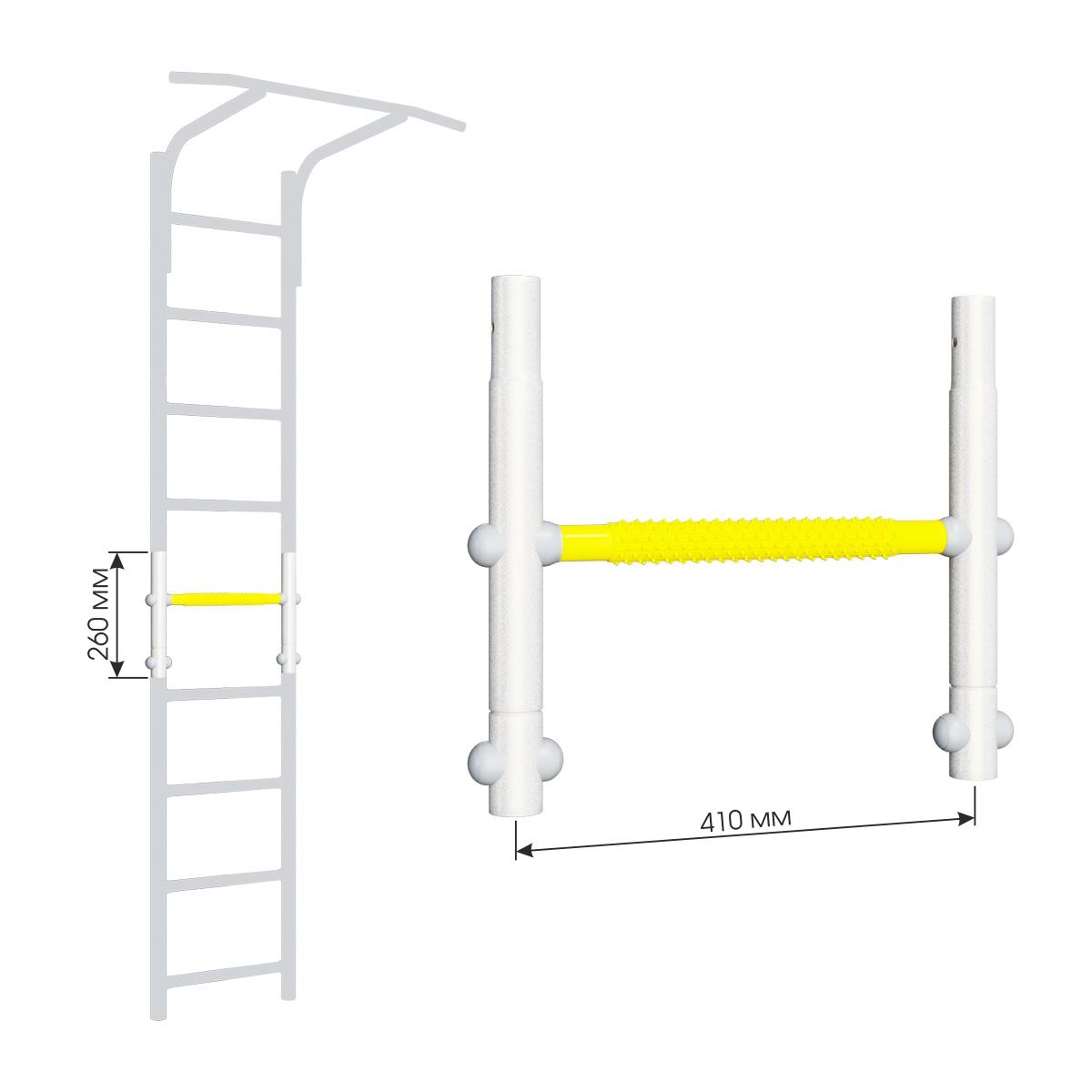 Вставка для увеличения высоты ДСКМ 410 Romana Dop8 (6.06.00) белый прованс/жёлтый