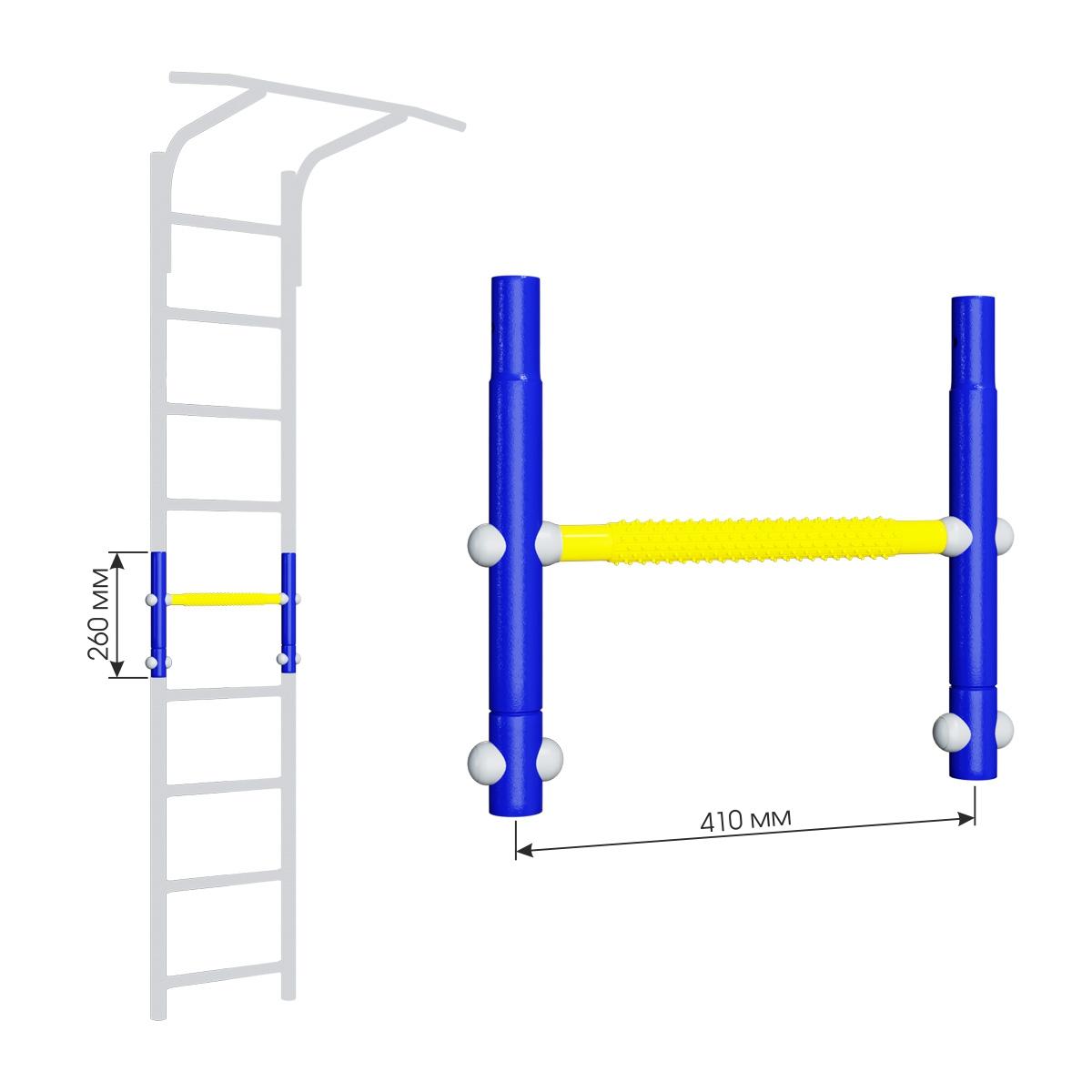 Вставка для увеличения высоты ДСКМ 410 Romana Dop8 (6.06.00) синяя слива/жёлтый