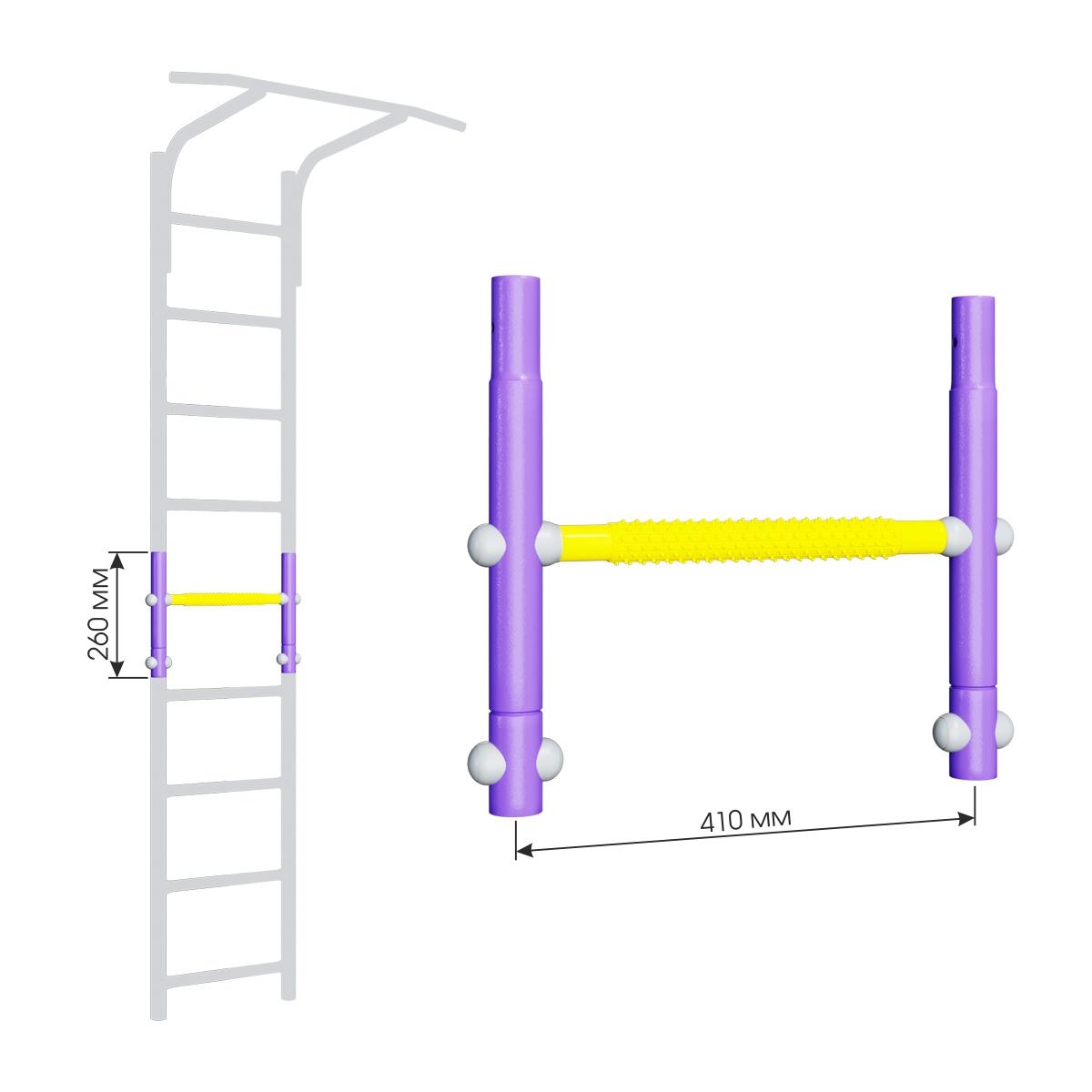 Вставка для увеличения высоты ДСКМ 410 Romana Dop8 (6.06.00) сиреневый/жёлтый