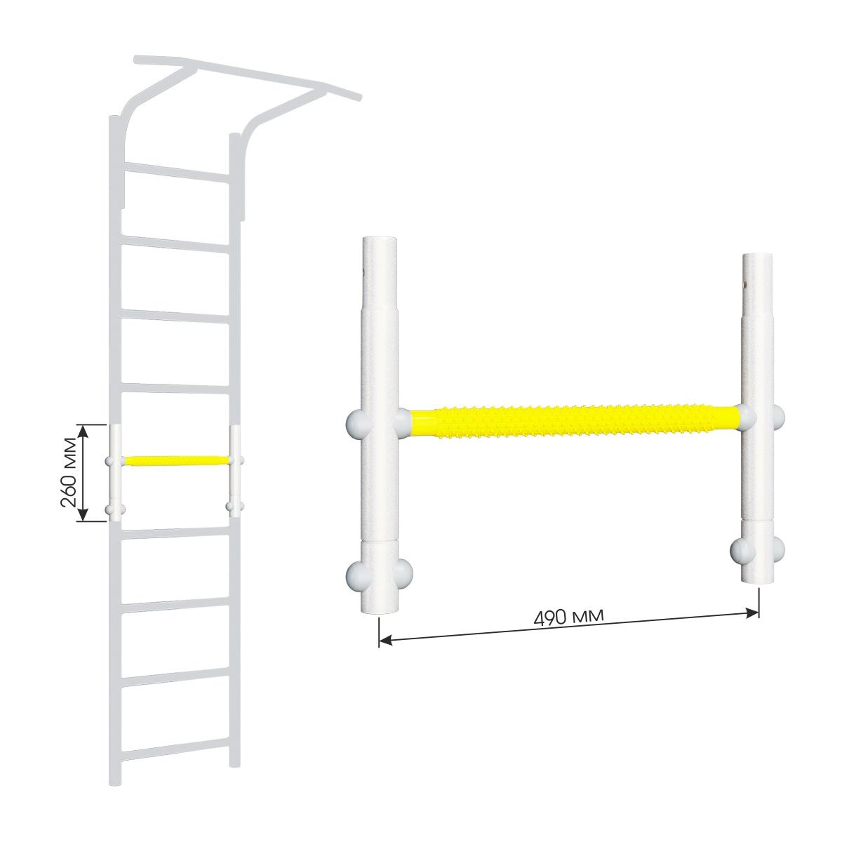 Вставка для увеличения высоты ДСКМ 490 Romana Dop9 (6.06.01) белый прованс/жёлтый