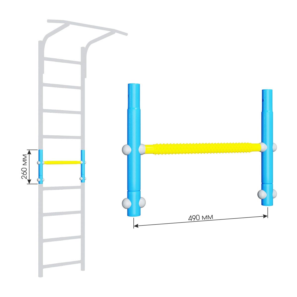 Вставка для увеличения высоты ДСКМ 490 Romana Dop9 (6.06.01) голубой/жёлтый