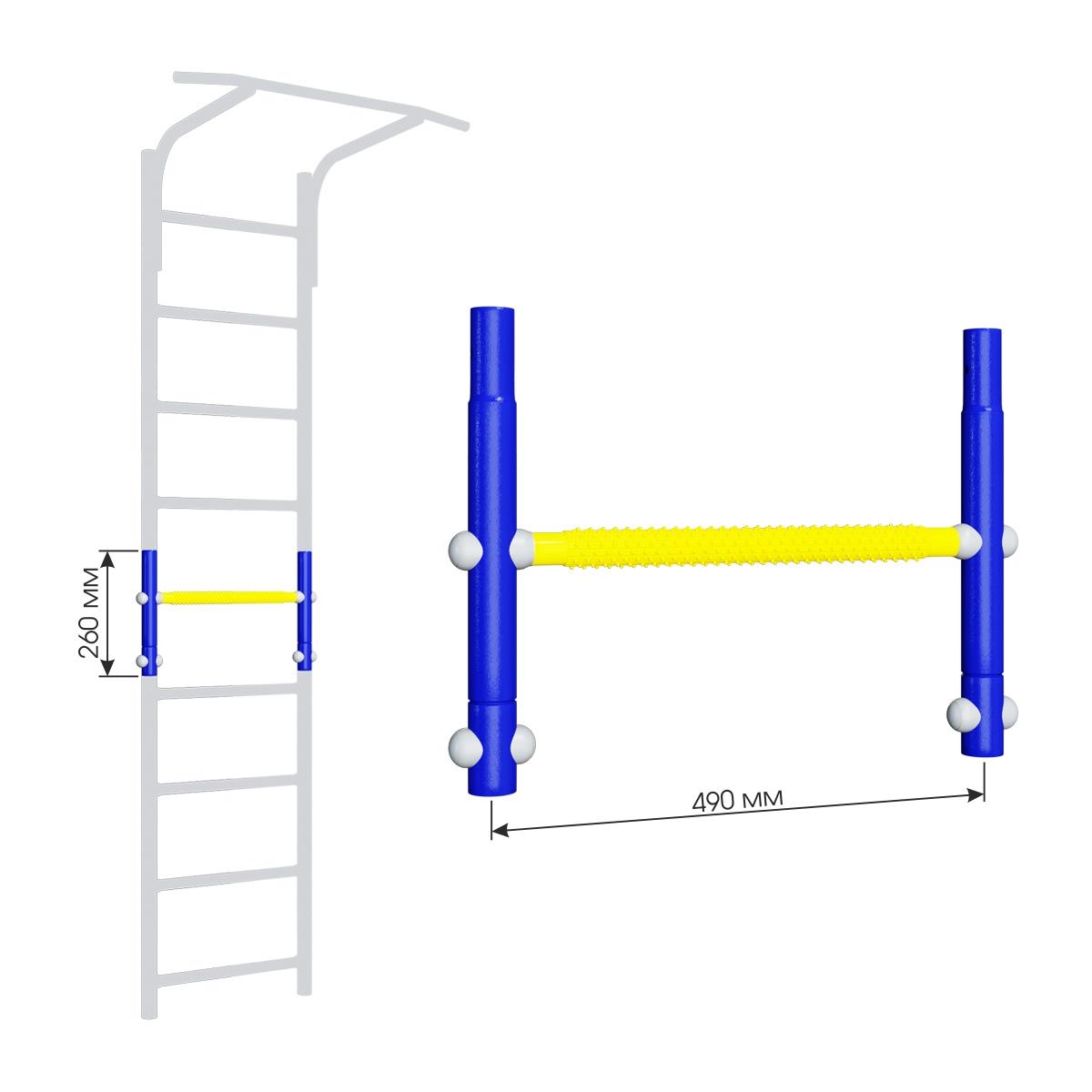 Вставка для увеличения высоты ДСКМ 490 Romana Dop9 (6.06.01) синяя слива/жёлтый